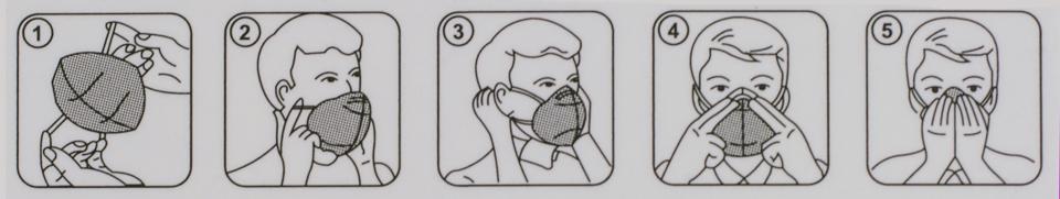 Instrucciones de uso mascarillas KN95