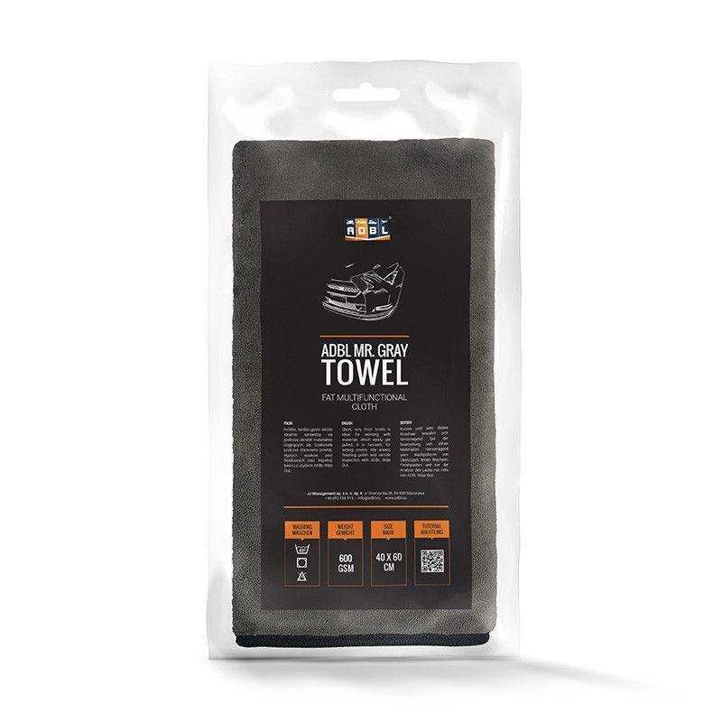 ADBL Mr. Gray Towel - Toalla de microfibras mullida y suave 40x60 cm 600 GSM