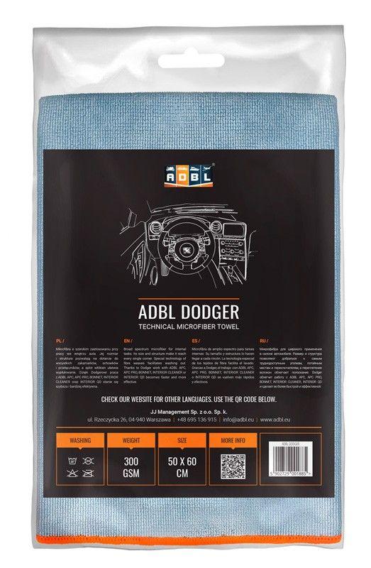 ADBL DODGER Toalla de microfibras técnica 50x60 cm 300 GSM