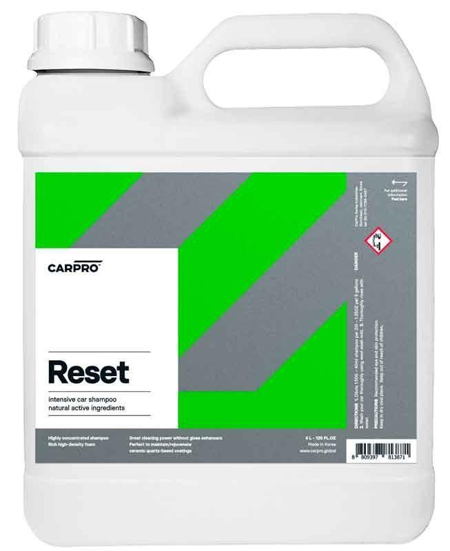 CarPro Reset 4 L - Champú para lavar coches con tratamiento cerámico