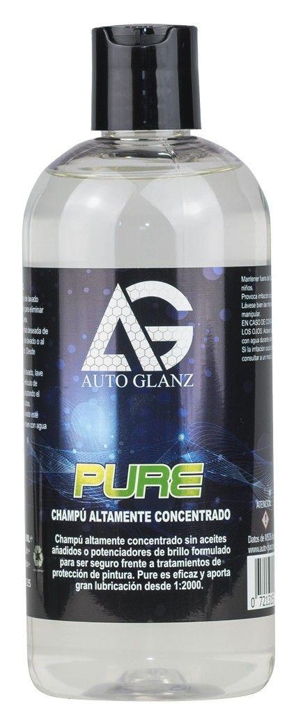 AutoGlanz Pure 500 mL - Jabon de lavado de coches ultra concentrado