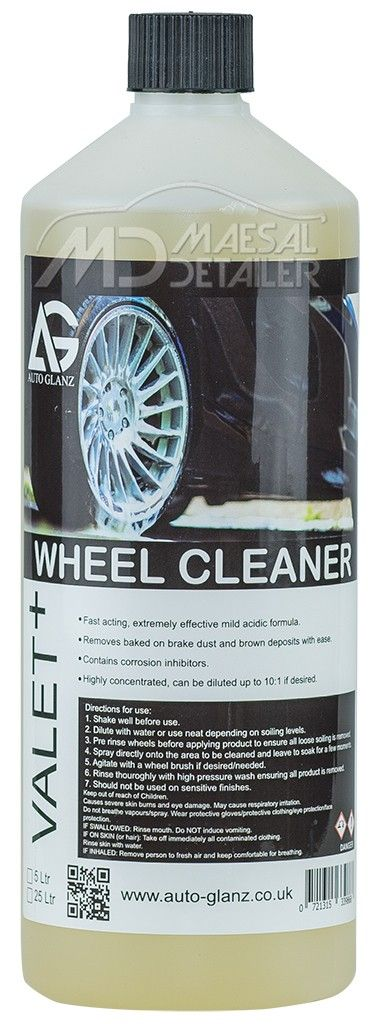 AutoGlanz Wheel Cleaner 1 L - Limpiallantas acido concentrado