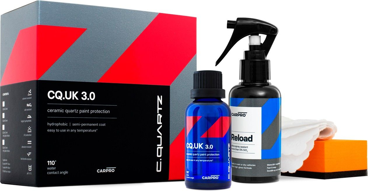 CarPro Cquartz UK 3.0 30 mL KIT con 100 mL de CarPro ReLoad