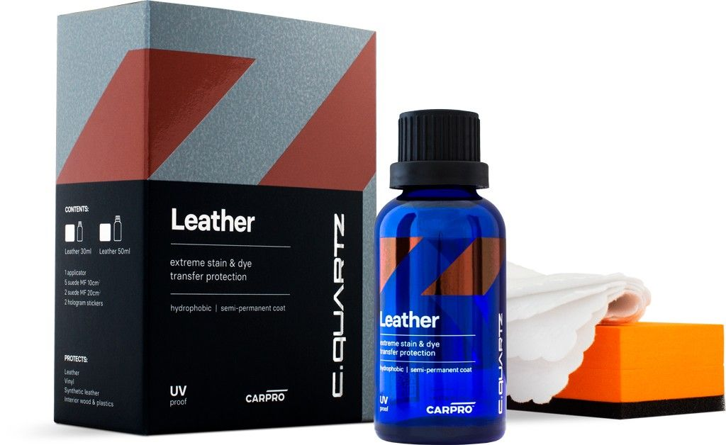 CarPro Cquartz Leather&Vinyl 30 mL - Coating para cuero
