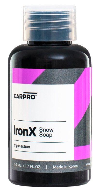 CarPro IronX Snow Soap 50 mL - Espuma prelavado con descontaminante férrico