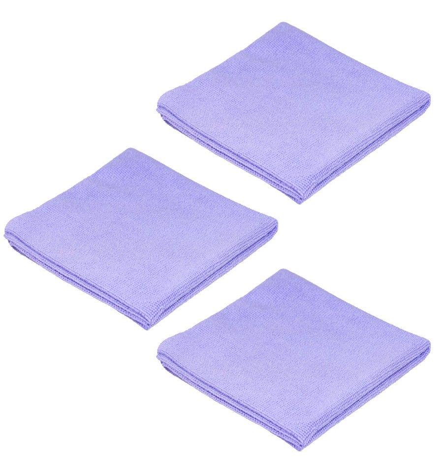 Kit de 3 BestFiber PURPLE Toalla de microfibras para ceras, coatings