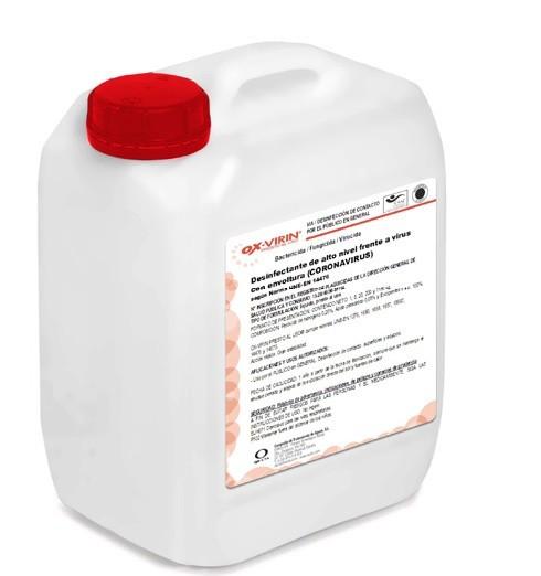 OX-VIRIN Presto al uso desinfectar coche coronavirus 5 kg