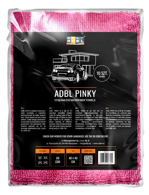 ADBL PINKY Kit de 10 toallas de microfibras sin costuras