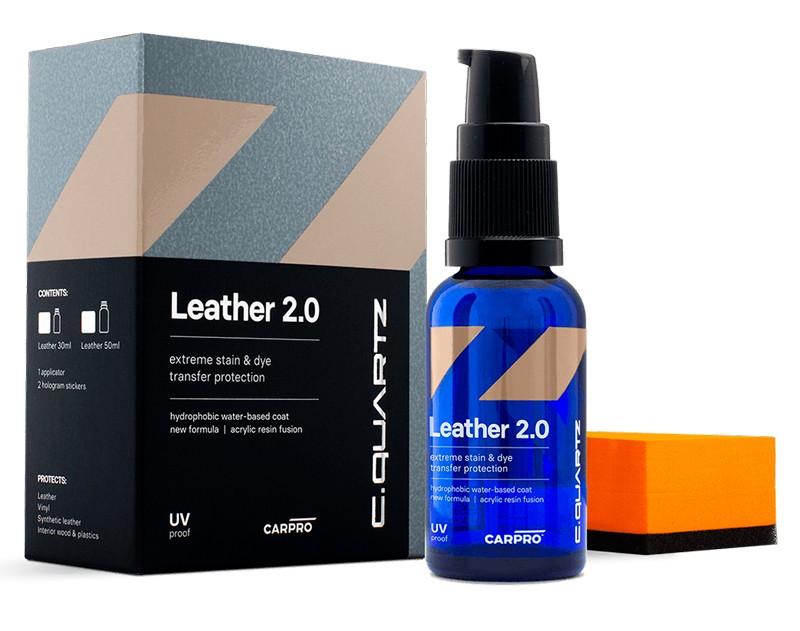 CarPro Cquartz Leather 2.0 Coating para cuero en base agua 30 mL