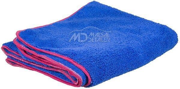 Toalla de secado azul mullida de 90x60 cm